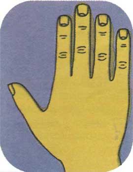 Το τετράγωνο χέρι - χειρομαντεία